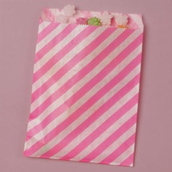 Hot Pink Stripe Bags