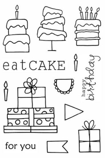 Eat Cake - Jane's Doodles Stamp