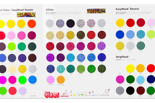 Siser Heat Transfer Color Swatch Book