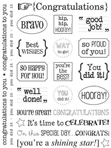 51013 Congratulations Sticker Sentiment