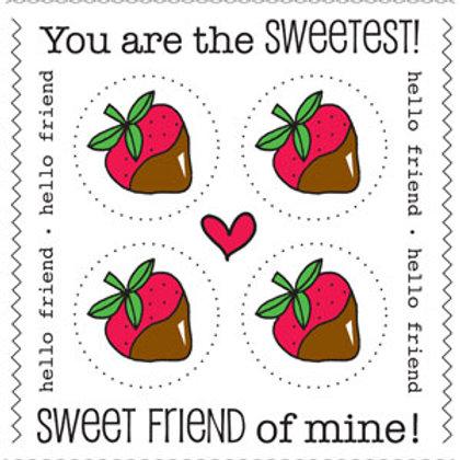 54004 Strawberry Stickers PLUS