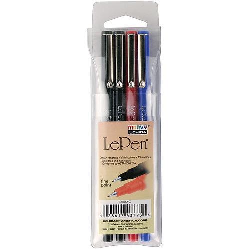 Le Pen Basic Colors - 4 piece set