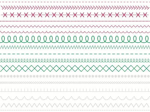 Sticker Stitches Red/Geeen/White