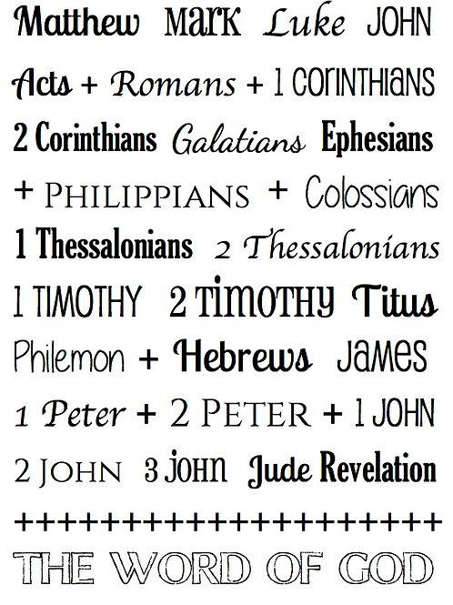 New Testament - Bible Journaling Stamp