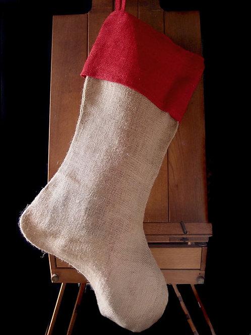 72104 Burlap Christmas Stocking Bulk