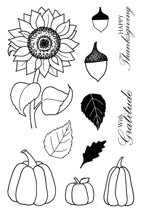 Autumn Blessing - Jane's Doodles Stamp