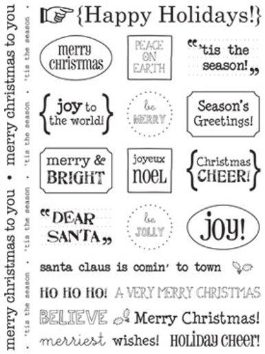 51001 Happy Holidays Sticker Sentiment