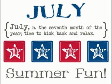 Monthly Memories - July