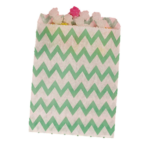 Patterned Bags - LARGE - Teal Chevron