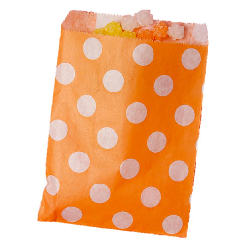 Patterned Bags - LARGE - Orange Dots