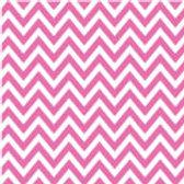 Patterned Vinyl - Pink Chevron - 10 s