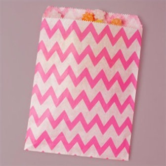 Hot Pink Chevron Bags
