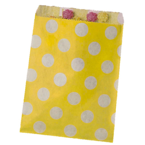 Patterned Bags - Yellow Dots