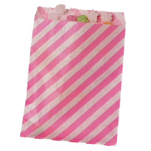 Patterned Bags - LARGE - Hot Pink Stripes