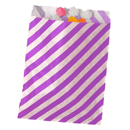 Patterned Bags - Purple Stripes