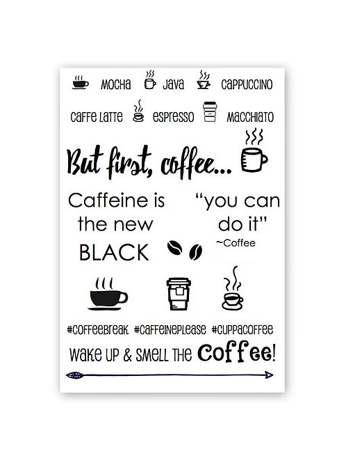 Coffee Plans Clear Planner Stamp