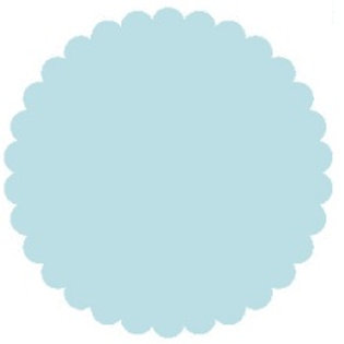 76025 Punched Pieces Baby Blue  Small 1 1/2""