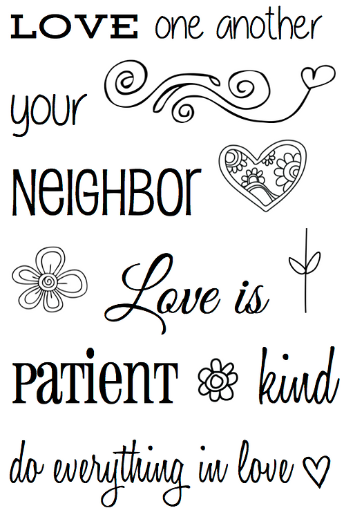 77043 Love One Another Clear Stamp