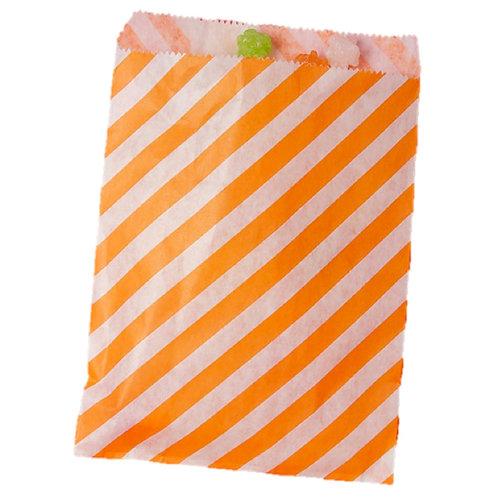 Patterned Bags - LARGE - Orange Stripes