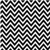 Patterned Vinyl - Black Chevron - 10 sheets