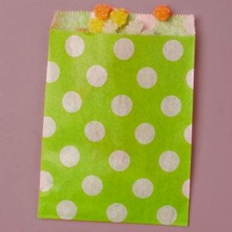 Lime Green Dot Bag