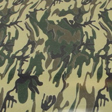 Camoflauge Green Patterned Heat Transfer
