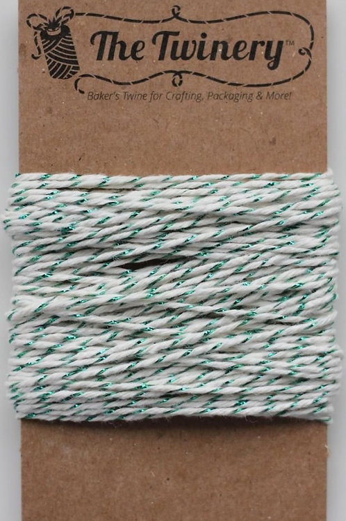 Green Shimmer Twinery Twine, Packaged