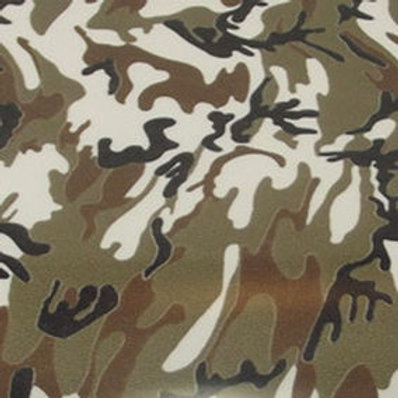 Camoflauge Brown Patterned Heat Transfer