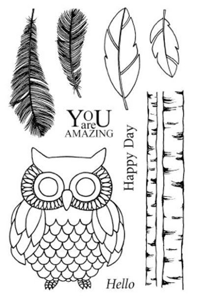 Wise Owl  - Jane's Doodles Stamp