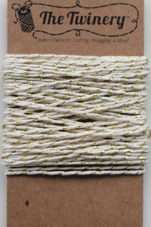 Gold Shimmer Twinery Twine, Packaged