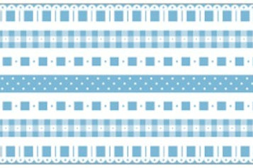 Little Borders #26063 - Blue & White - 1 Dozen
