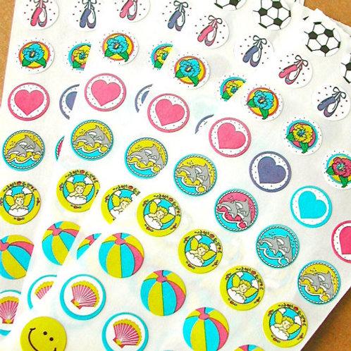 Tiny Sticker - Pastel Assortment- 1 Dozen