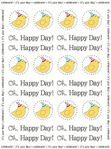 62009 B-Day Birdie Stickers by the Dozen