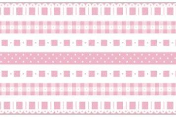 Little Borders #26064- Pink & White - 1 Dozen