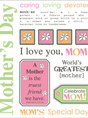 39042 Mother's Day Say it with Stickers