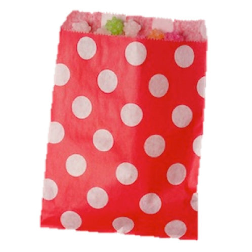Patterned Bags - LARGE - Red Dots