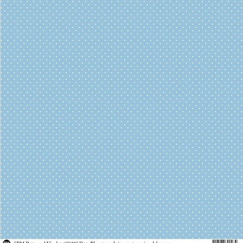 Patterned Vinyl  - Light Blue Dots - 10 sheets