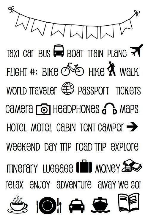 Travel Plans - Planner Stamp