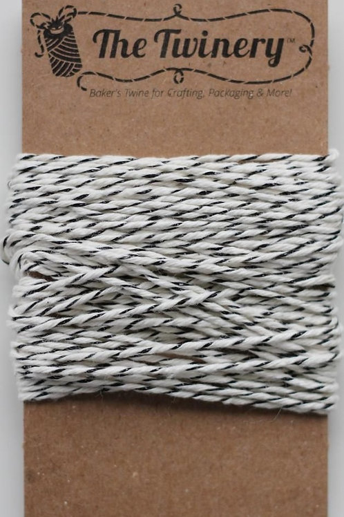 Black Matte Shimmer Twinery Twine, Packaged
