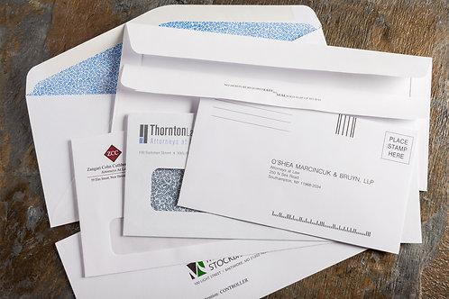 Spot Color Regular Business Envelope - Gummed Flap