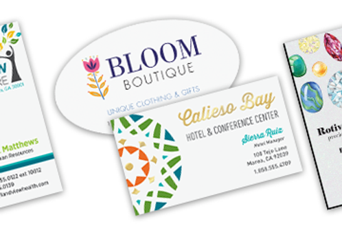 Full Color Business Cards - Flat Printing
