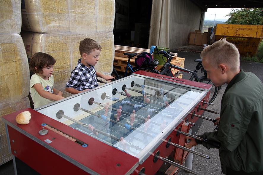 Auch die Kinder haben Spass