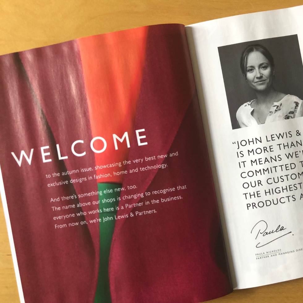 Sarah Hunt John Lewis & Partners print e