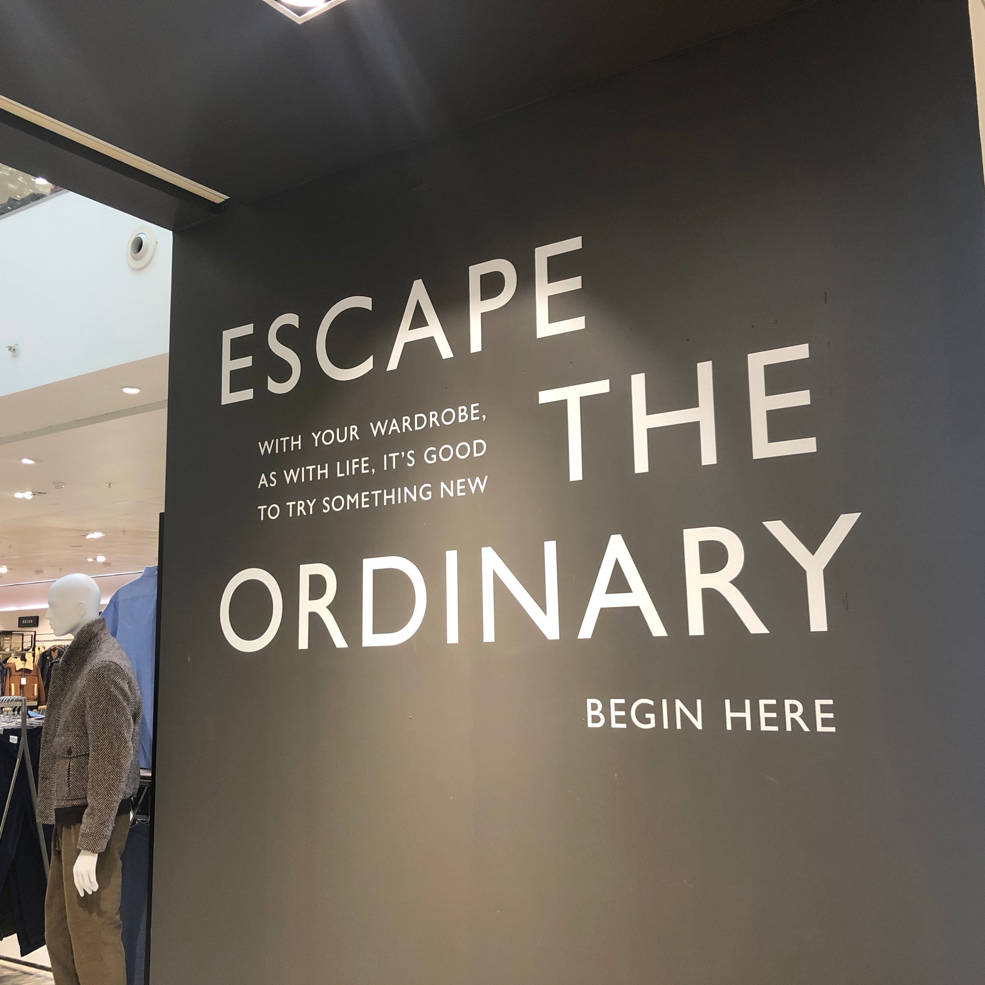 John Lewis Menswear Escape Store Communi