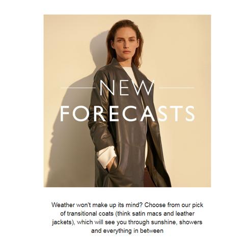 Sarah Hunt email copywriting autumn coat