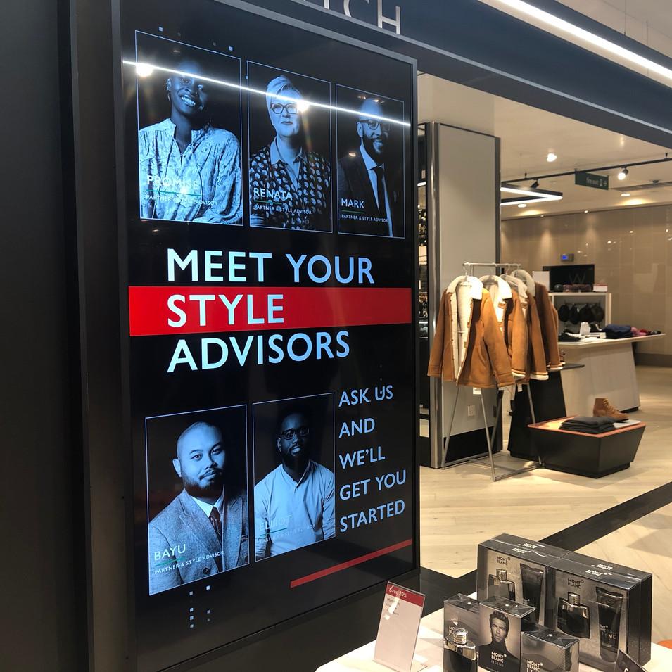 John Lewis Menswear Store Comms Stylists