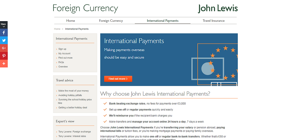 International Payments   John Lewis Fore