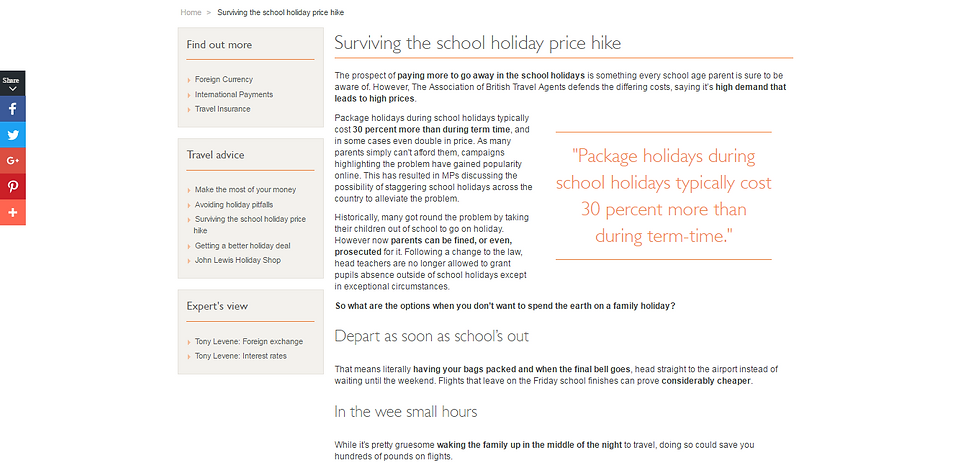 Surviving the school holiday price hike