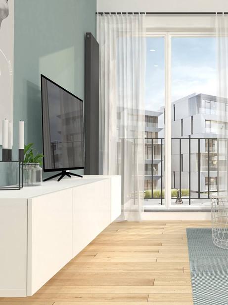 Projekt Mieszkania 58m2 Bielany