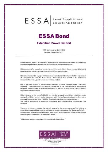 Exhibition Power ESSA Bond